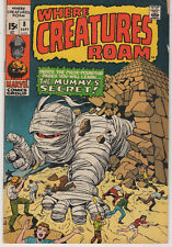 Marvel WHERE CREATURES ROAM 8 1971 FINE-