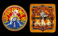 (2) MIAMI DOLPHINS Willabee & Ward SUPER BOWL CHAMPIONSHIP PATCHES Both SB 7 & 8