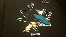 New San Jose Sharks Reebok NHL Primary logo Men T Shirt black medium m