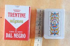 Trentine mignon 40 carte da gioco Dal Negro scopa briscola Trento playing cards