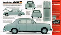 MERCEDES-BENZ 220 SPEC SHEET/Brochure/Catalog:1958,1959