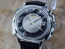 Elgin Swiss Made 42mm Mens 1960s Vintage Large Stainless Steel Watch  MX150