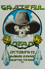 More details for the grateful dead concert window poster - manor downs, austin texas rock reprint