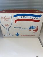 Vintage Lafayette 5oz Wine glasses set of six in original box