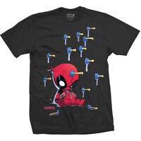 Baby Deadpool Suckers Official Marvel Comics X-Men Black Mens T-shirt