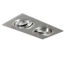 Astro Taro Twin GU10 Fire Rated 5709 Adjustable Downlight in Brushed Aluminium