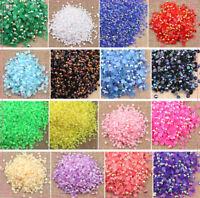 1000 pcs Rhinestone AB Milk Jelly 2mm 3mm 4mm 5mm 6mm Flatback Resin Crystal #03