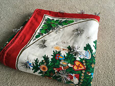 Ugly Christmas Quilt Ugliest Xmas blanket Tinsel Throw HANDCRAFTED sweater party