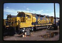 1975 ATSF Santa Fe Diesel Locomotives #3455 & #3327 - Vtg 35mm Railroad Slide