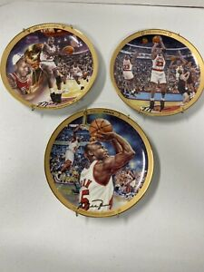 Vintage 1991 1992 And The Comeback Michael Jordan Decorative Plates With Hangers