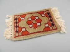Vintage Doll House Woven Rug Carpet Fringe