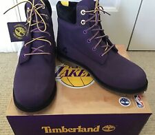 """Timberland 6"""" Boots, Purple Nubeck Leather, Size 7, BRAND NEW IN BOX"""