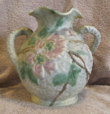 "1920s Weller Pottery SILVERTONE Line 8-1/2"" Floral Decor Vase (bottom marked)"