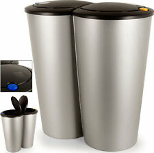 Kitchen Waste Bin Rubbish Large Dust Home Double Can Garbage Container Big Hold