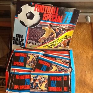 FOOTBALL SPECIAL 79,NOT PANINI,FULL BOX,200 PACKETS NOT OPEN,IN VERY GOOD/C