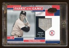 TED WILLIAMS 2002 LEAF CERTIFIED #D 5/5 GAME JERSEY FABRIC OF THE GAME  HOF RARE
