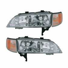 HEADLIGHT HEADLAMP LIGHT L & R PAIR SET FITS 1994 - 1997 HONDA ACCORD