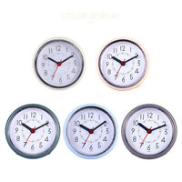 Round Wall Clock Silicone Suction Cup Waterproof Shower Clock Bathroom Kitchen