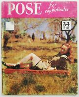 Vintage Pose Mens Magazine Amateur Risque Model Lingerie Pin Up Cheesecake 1950s