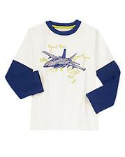 Gymboree FLIGHT SCHOOL jet design double sleeve long Sleeve Tee size 6 NWT