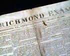 Rare J. E. B. STUART Confederate Captial Richmond VA 1863 Civil War Newspaper