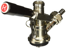 Stella European Beer Keg Coupler Stainless Steel Body and Probe Lever Handle NEW