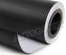 "12"" X 60"" Black Carbon Fiber Vinyl Film Wrap 3d Bubble Air Release 1ftx5ft"