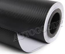 """12"""" x 60"""" Black Carbon Fiber Vinyl Film Wrap 3D Bubble Free Air Release 1ftx5ft"""
