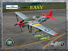 "Flight Wing WWII US Army Air Force P-51D ""EASY"" MUSTANG Fighter Plane 1/18"