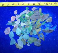 1/2 POUND MIXED LOT OF SEA GLASS - SEAGLASS Seashell Craft Wedding Decor