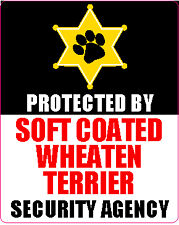 Protected By Soft Coated Wheaten Terrier Agency Sticker