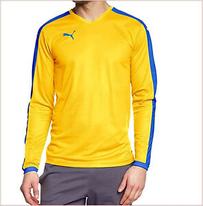 PUMA Underwear Sport Man Polo T-Shirt T-Shirt Yellow Long Sleeve Yoga XL