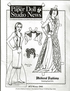 Paper Doll Studio News Issue #73 Winter 2003 Medieval Fashions