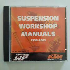 Reparaturanleitung KTM WP Suspension Workshop Manuals 1998-2003 Federbein Gabel