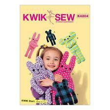 KWIK SEW SEWING PATTERN LEARN TO SEW TOYS K4204