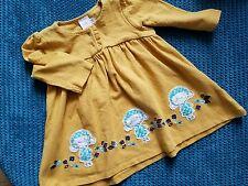 3-6 months girl yellow mustard winter spring dress long sleeve winter mini club