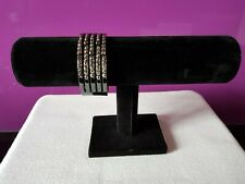 HOUSE OF FRASER Wide Gunmetal-tone Bangle/Cuff, Smoky Grey Faceted Crystals