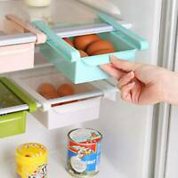 Plastic Kitchen Freezer Fridge Drawer Storage Rack Holder Slide Shelf Organizer