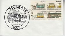 1983 #2062a STREETCARS FDC POSTMARK CACHET #9 OF ONLY 10 MADE UA!