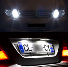 4 lampadine a LED Bianco Fari notte+Illuminazione targa Mercedes SLK 170 171 172