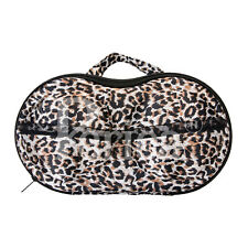 Display Storage Suitcases A Set of 2 Warm Tones Leopard Print Stackable
