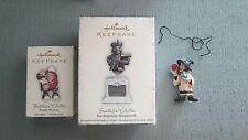Set of 3 Hallmark Halloween Ornaments Hauntington Collection Cass Taspell Statue