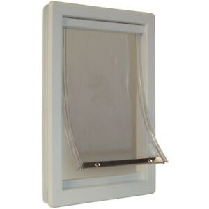 Pet Door X-Large Frame Dog Entry Way In and Out See Through Opening Thermoplasti