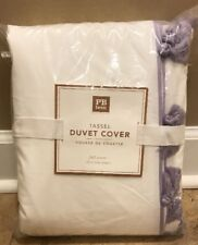 NEW Pottery Barn Teen Tassel FULL QUEEN Duvet LAVENDER