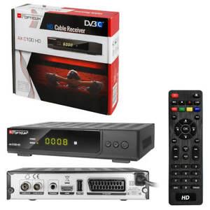 Digital Kabel DVB-C TV Kabelreceiver Receiver HDTV Opticum C100 SCART USB HDMI