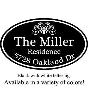 "Personalized House Address Decorative Custom Plaque 12"" x 7"" Aluminum Sign"
