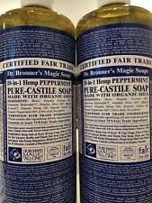 Dr. Bronner's Magic Soaps: Pure Castile Soap,18-in-1 Hemp Peppermint, 50 fl oz