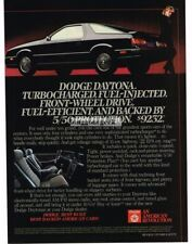 1984 Dodge Daytona Black Vtg Print Ad