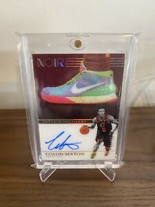 2019-20 Panini Noir Collin Sexton Sneaker Spotlight On Card Auto Autograph 37/99