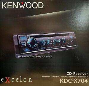 NEW Kenwood KDC-X704 1-DIN Car Audio Stereo Receiver, CD/AM/FM w/ Bluetooth